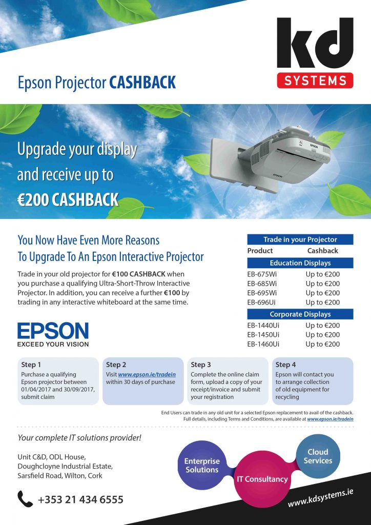 Epson cash back offer